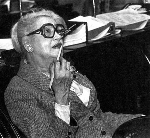 Representative Mae Street Kidd seated at the Kentucky State Legislature