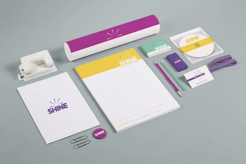 Fully branded set of stationery and packaging created for a consulting start-up.