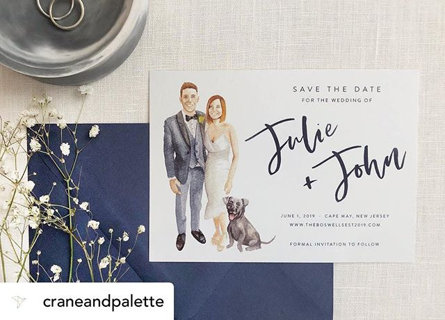 Sharing some details about this perfectly charming Save the Date on the @craneandpalette Instagram! 🥰