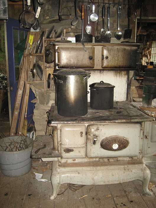 Our antique wood-burning stove