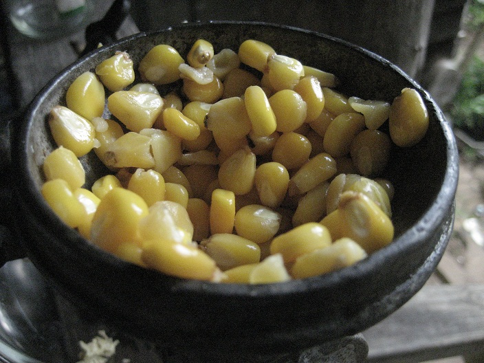 Corn in the grinder