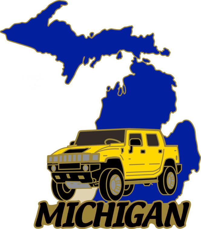 2006 NLC Pin Michigan with Yellow Hummer