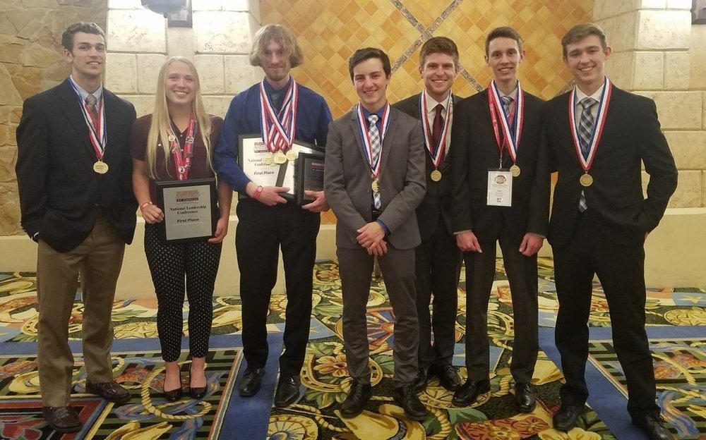 Pictured: DeWitt High School's students who placed in the Top 10 at the 2018 NLC