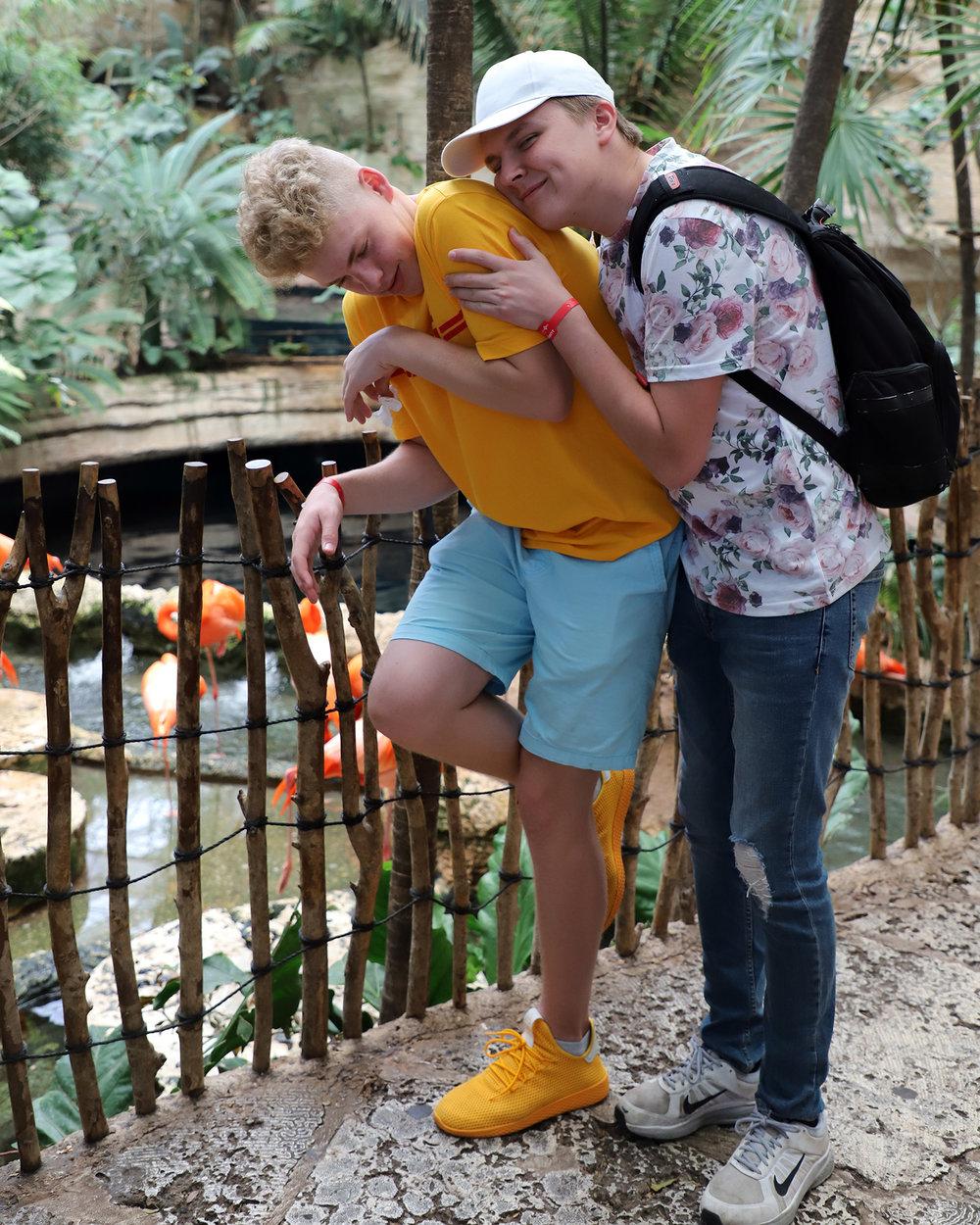 Westwood HS - 2018 NLC - World Aquarium (acting like a flamingo)