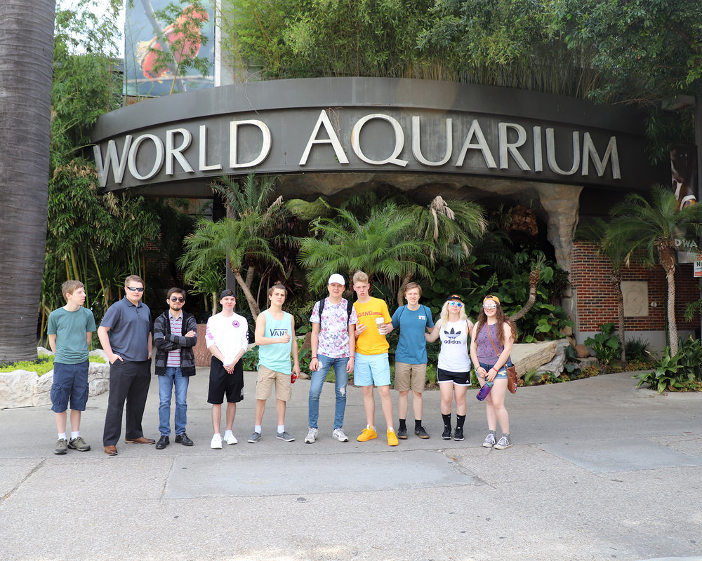 West Iron County HS, Forest Park HS, and Dickinson-Iron Technical-Education Center - 2018 NLC - World Aquarium