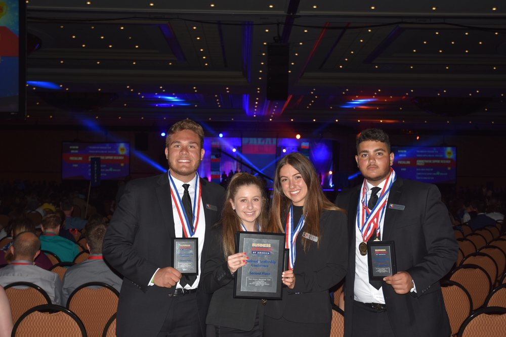 Dearborn HS - 2018 NLC - Displaying their awards at Awards Session