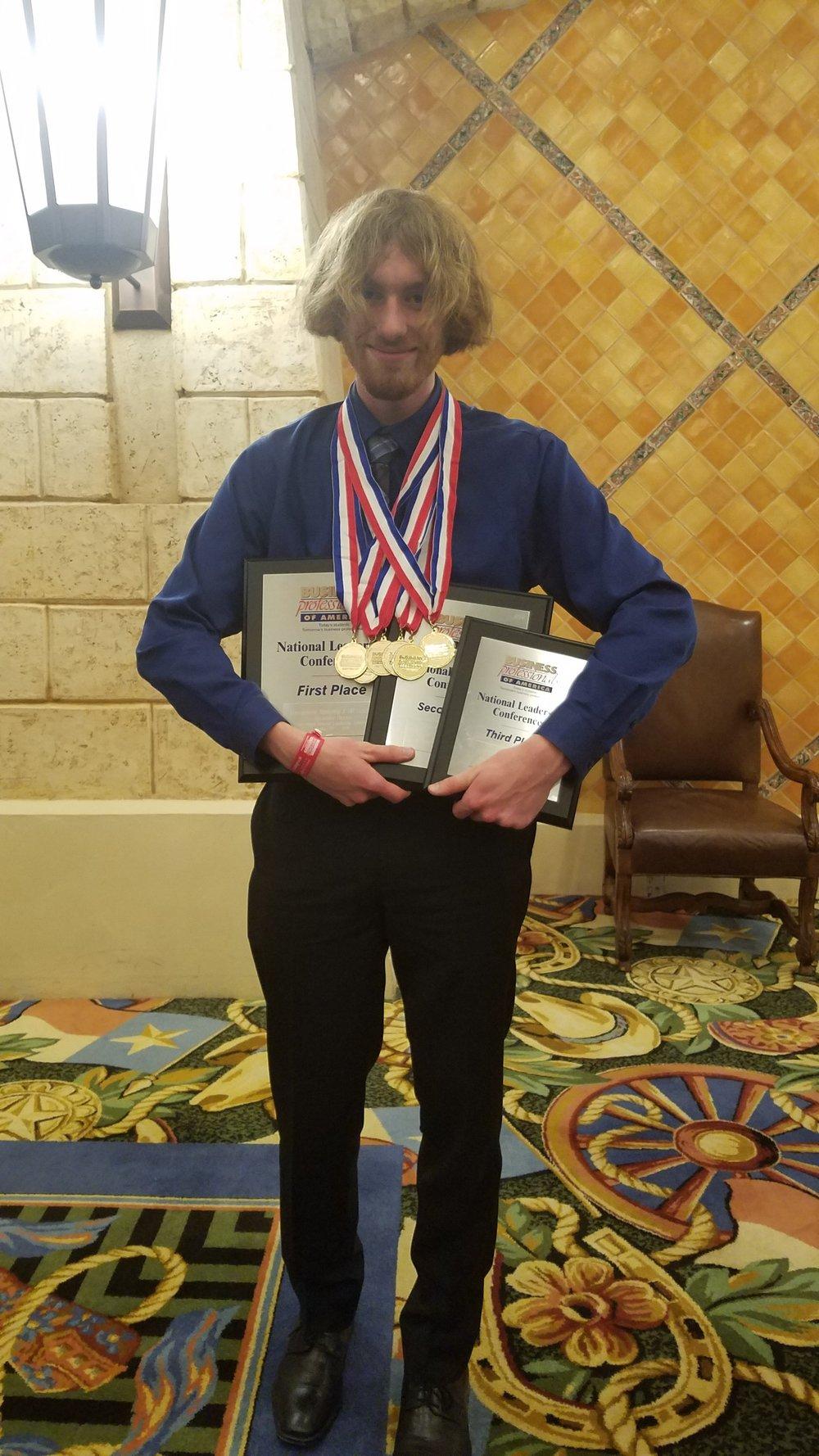 DeWitt High School - 2018 NLC - Zack Matson (Two time - six national awards 2017 & 2018)