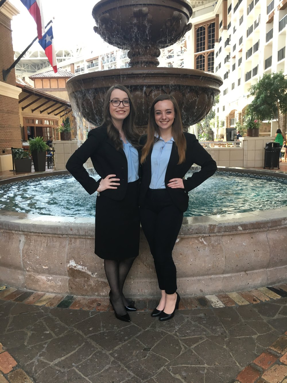 2018-2019 National Postsecondary President Skylar McArthur (right) - 2018 NLC - with Campaign Manager Emma Herron