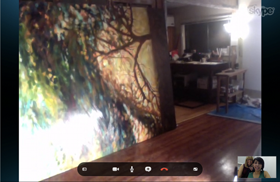 Capsule Arts late night skype with artist Karen Lorena Parker