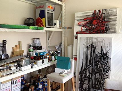 Studio of artist Fathima Mohiuddin