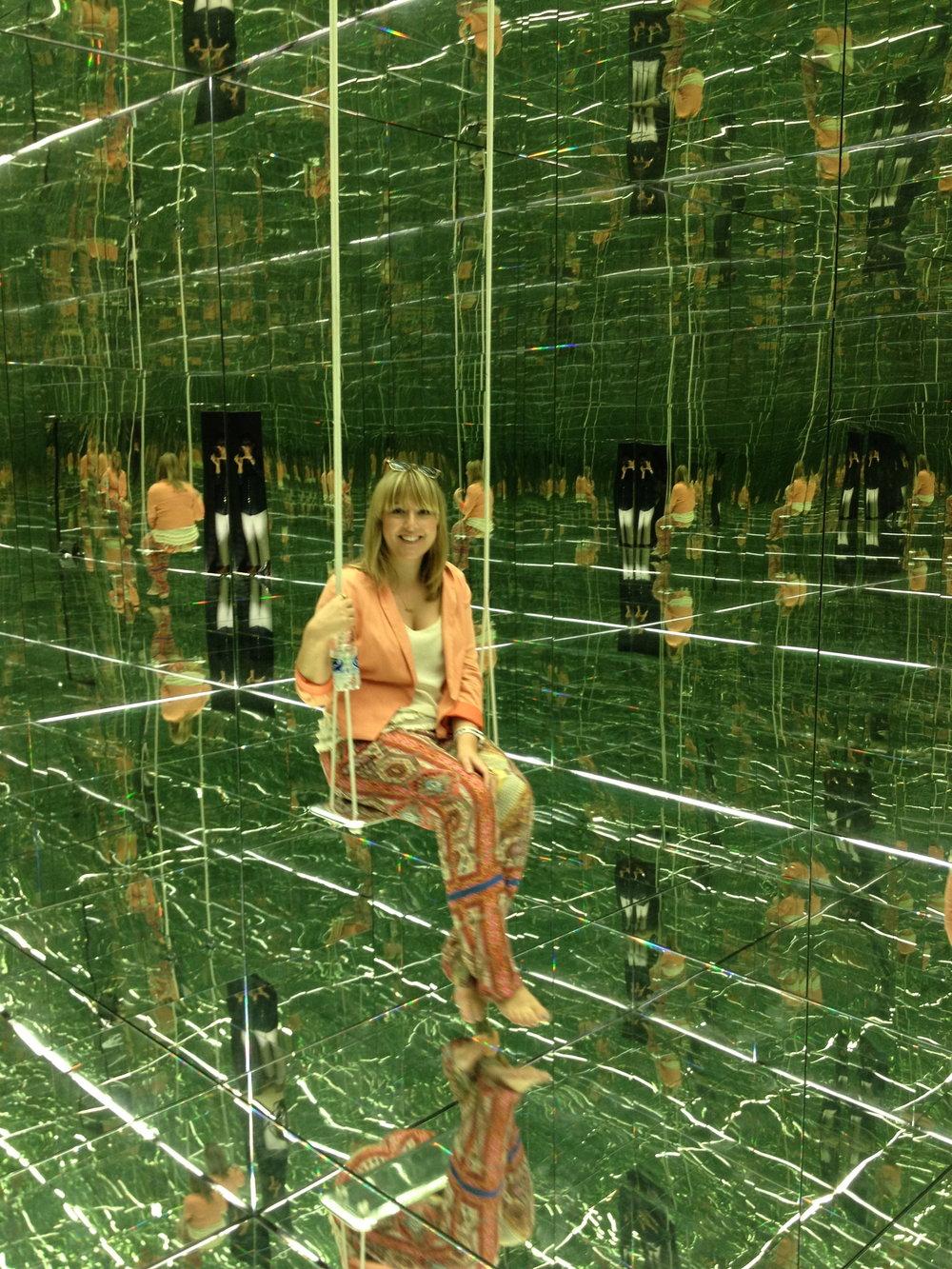 Capsule Arts Director Rachael Brown in Thilo Frank's 'Infinite Rock' installation