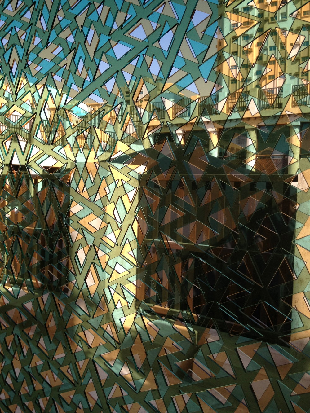 Seven door openings were transformed in Bait Al Serkal by Lucia Koch in 'Conversation'