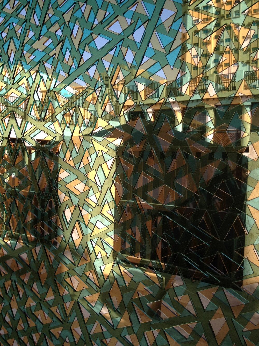 Seven door openings were transformed in Bait Al Serkal by Lucia Koch in 'Conversation'