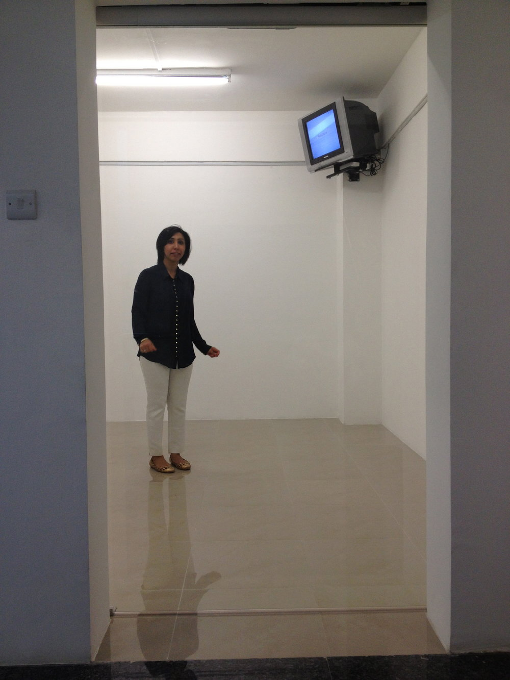 Capsule Arts Director Deepa Bhatia stuck in Valia Fetisov 'Installation of Experience'