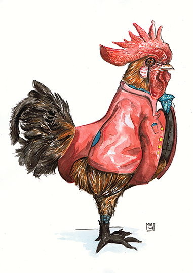 A Charming Rooster by Matthew Ryder