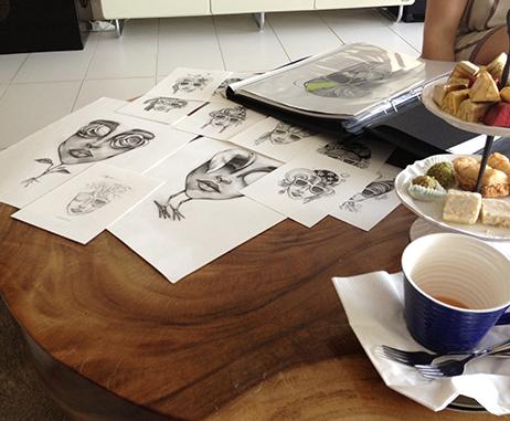A visit to Lama Khatib Daniel's Dubai studio
