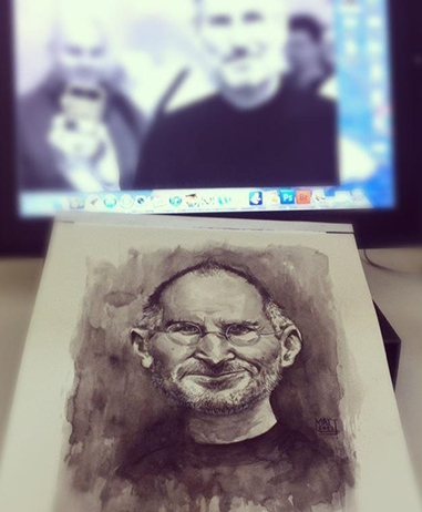 Steve Jobs portrait by Matthew Ryder