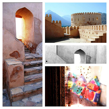 A collage of Photographs of Oman by Kathryn Wilson