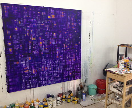 Mohammad Al Qassab's studio in Sharjah