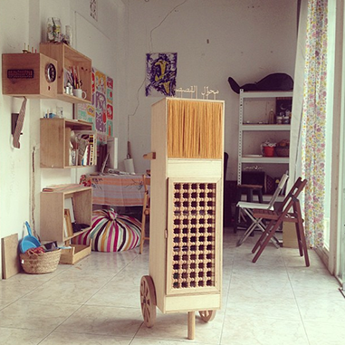 Nasir Nasrallah's studio in Sharjah