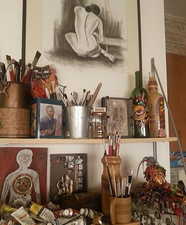 Nivedita's studio in Dubai