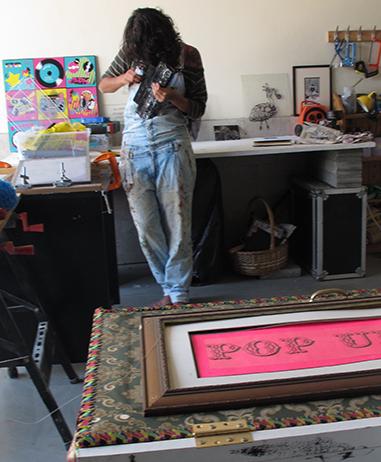 Noush like Sploosh in her Dubai studio