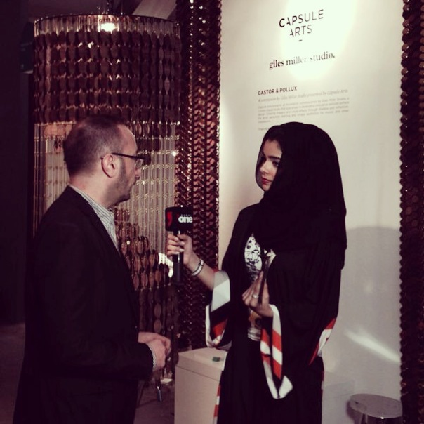 Fair Director Cyril Zammit talks to Dubai One at our stand