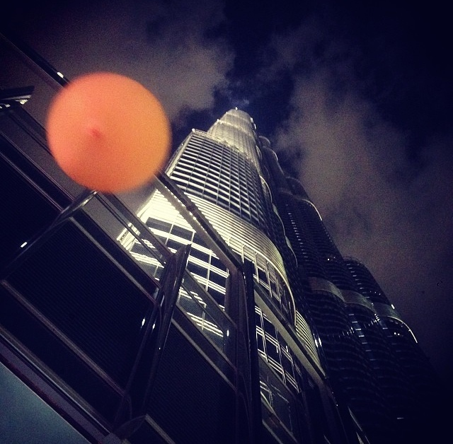 Celebrating at the opening night after party with our Verve Clicquot balloon
