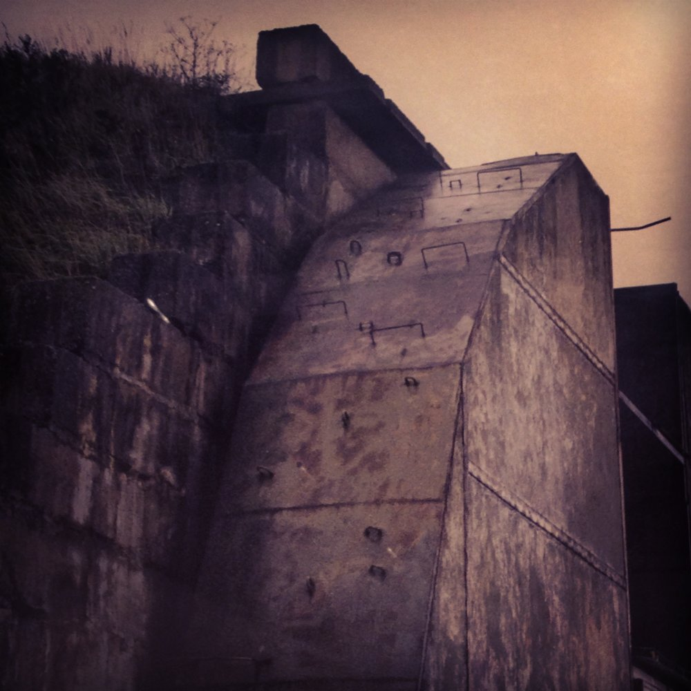 Monolithic forms - a detail of Fouad Elkoury's Bunker, 2010