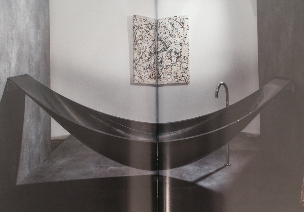 Amy Sutcliffe's (Retail & Marketing Manager) top pick - Hammock or bath? Both are combined in Splinter Works' hybrid bathtub, Vessel