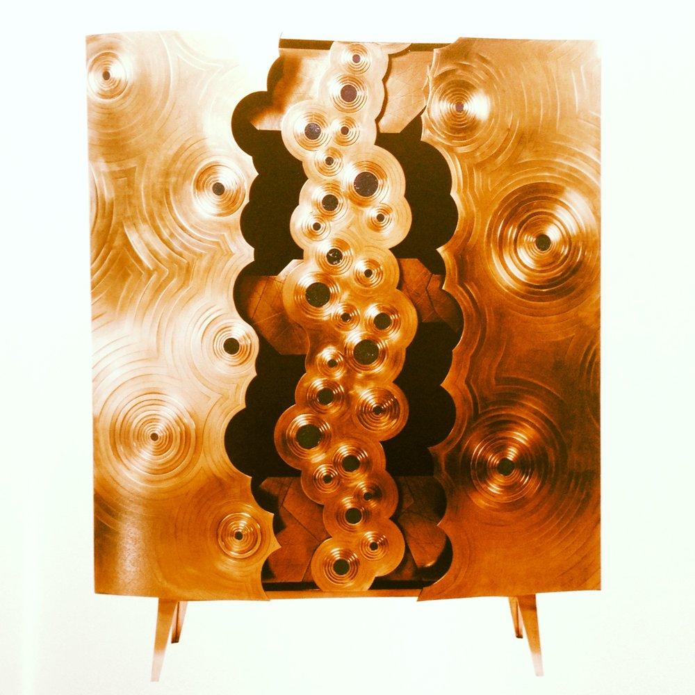 Erwan Boullard's blingtastic wardrobe, Rosanna, is inspired by 1960s design
