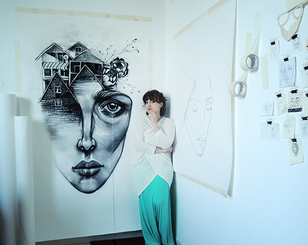 Lama in her studio in Dubai