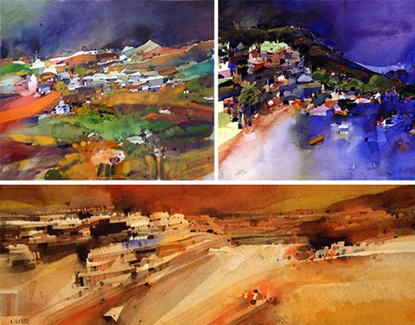 Watercolours by Abdelgadir Hassan Elmobark