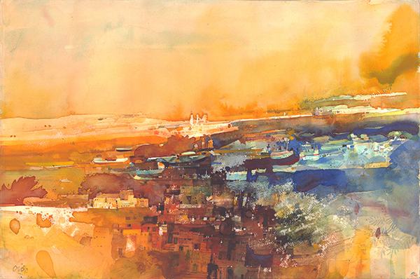 'Landscape 3' by Abdelgadir Hassan Elmobark, available as a limited edition print from Capsule Arts