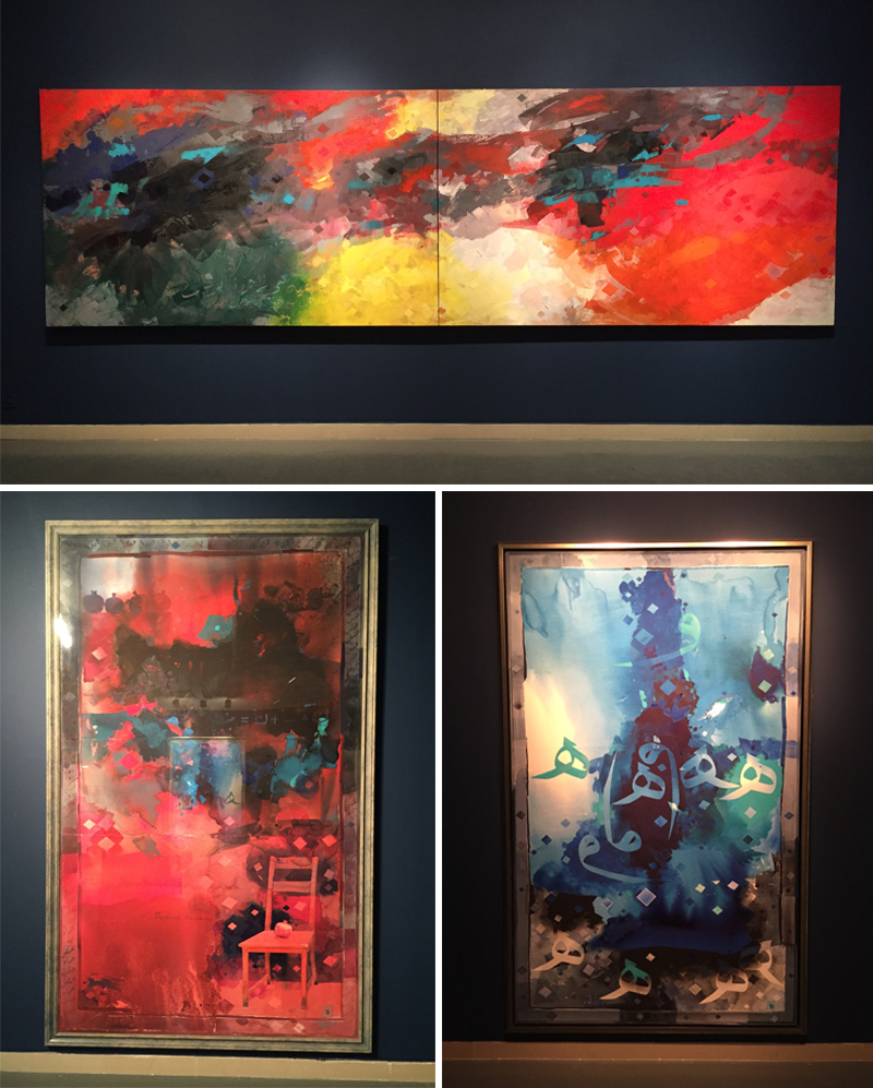 Paintings by renowned artist, Abdul Qader Al Rais