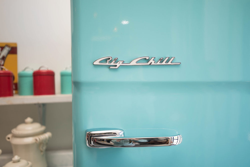 - Pennsylvania-based home appliance manufacturer renowned for its retro design and innovative detail which appeals to those seeking to make a statement with style and color in their kitchen space.Orion and Thom, founders of Big Chilldecided to bring the Retro fridge, one of their first designs,to the public. It was a big risk basing a business on such a uniquely styled product, and they didn't stop with just a singular design. Orion curated a palette of vintage-inspired colors for the fridge, an innovative idea in an industry landscape dominated by neutral tones and a trend at the time to hide appliances behind cabinetry-like doors. He took memorable colors inspired by cars and kitchens of the 50s, brightened them for an even bolder take, and made them part of the Original Size Retro's style.If Orion had one goal with his designs, it was to bring cheer to the heart of the home. Big Chill's Retro Line made kitchens memorable. Made guests feel welcome. He wanted to bring that same experience to people interested in other era-inspired designs. Thus product selection expanded into lines that included sleek, contemporary detail, colors both bold and subtle and inspiration gathered from industrial-chic movement.Big Chillcontinues to be an industry leader in design and color today, with innovative products in a range of styles and sizes coming to market regularly. Orion still believes in craftsmanship and quality.