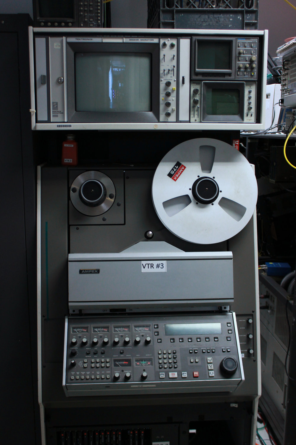 "Ampex VPR-3 1"" Reel to Reel Video Machine"