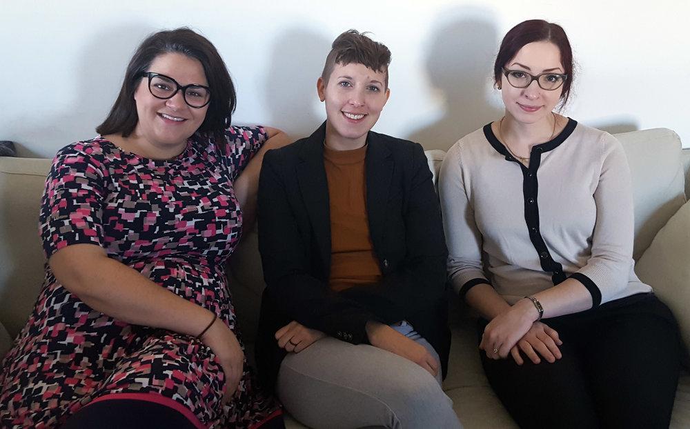 Biz Gallo, Sarah Mainville, Nora Egloff