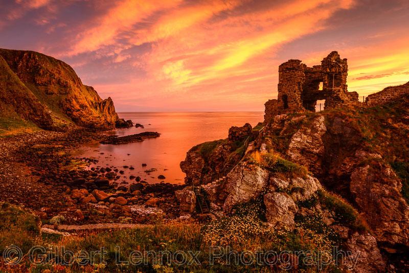 Kinbane Castle Sunrise Photos