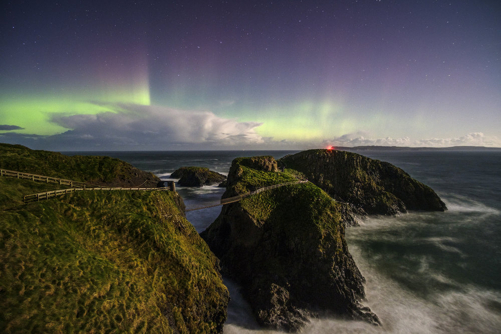 Aurora at Carrick-a-Rede