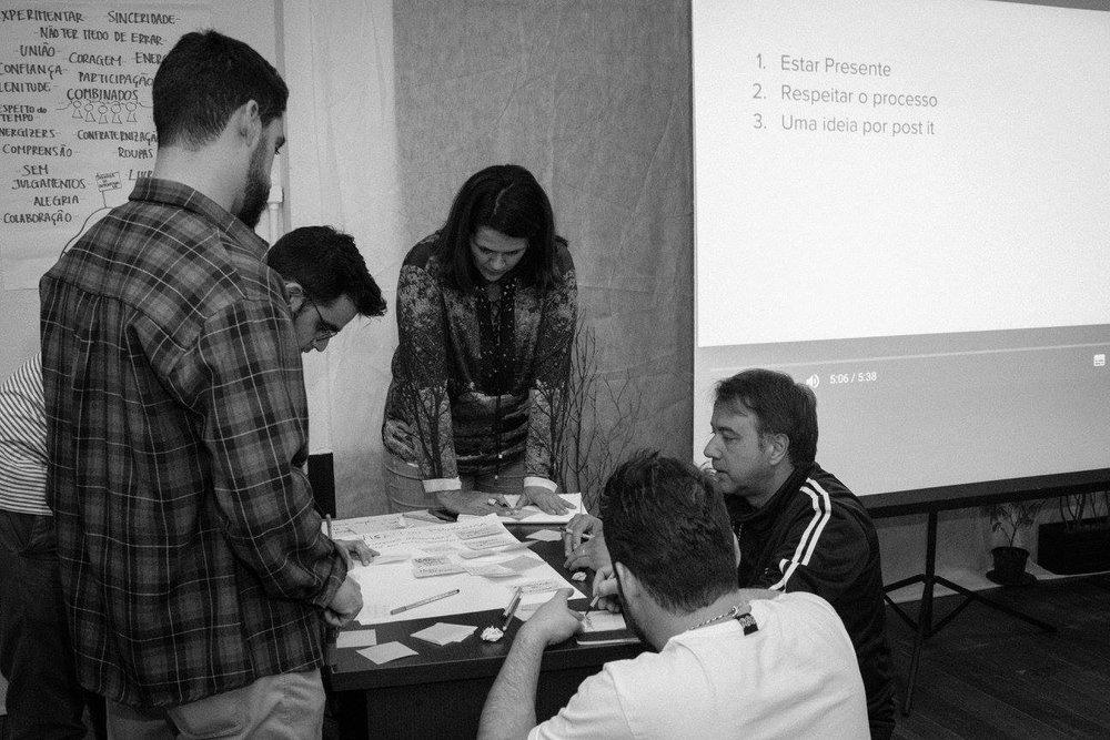 O espaço de insight é um momento que oferece a estrutura adequada para times e equipes desenvolver o pensamento criativo através de técnicas de mindfulness, escuta profunda e diálogo gerativo. Normalmente em formato de retiro.