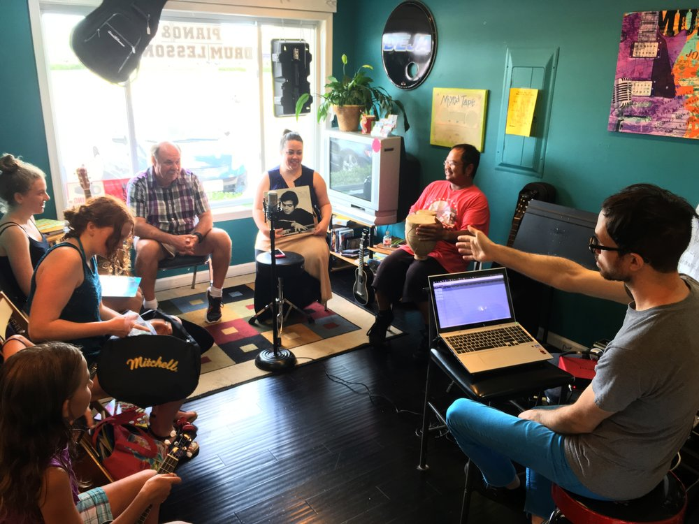 Songwriting Workshop at Music Makers (August 2016)