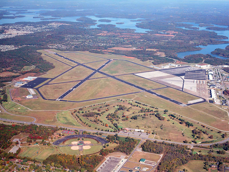 Aerial View of Airport - Smyrna / Rutherford Country Airport Authority