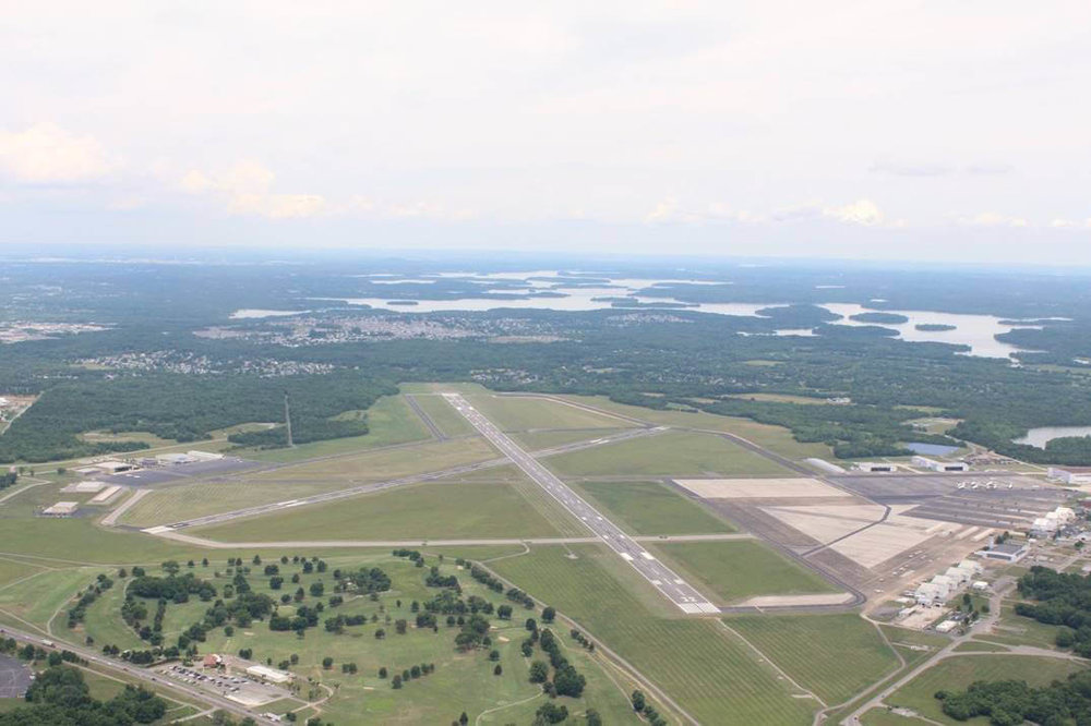 An aerial view of the Smyrna Airport