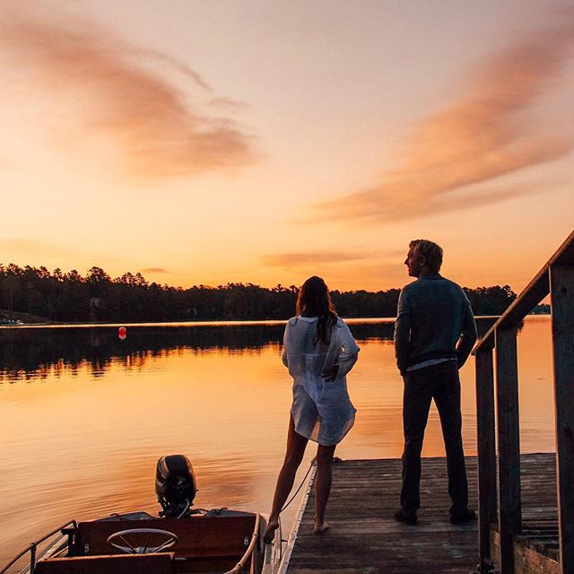 This sunrise really brightened up our day🌅  Nothing beats watching a sunrise from our dock in Nova Scotia! We usually come every summer, but didn't last year because of our wedding and honeymoon, so it feels so so good to be back...