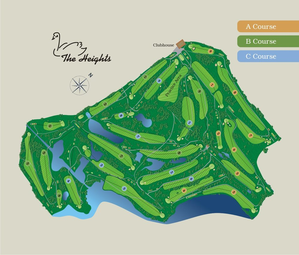 Cleveland Heights Golf Course Map