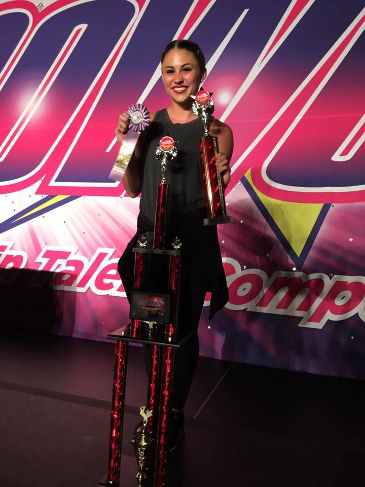 It all started with a Mommy & Me class! - At age 2, Emmie started dance in a Mommy & Me class. She finished off her senior year winning a National 1st Place Soloist Title in 2017. Congrats, Emmie!