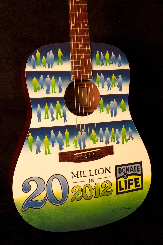 Donate Life Guitar