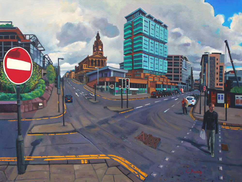 (3) Bothwell Street, Oil on canvas, 140 x 105cm - COLIN POVEY (colon) GLASGOW STREETS, Glasgow Royal Concert Hall, Glasgow, 8 November 2016 - 5 February 2017.jpg