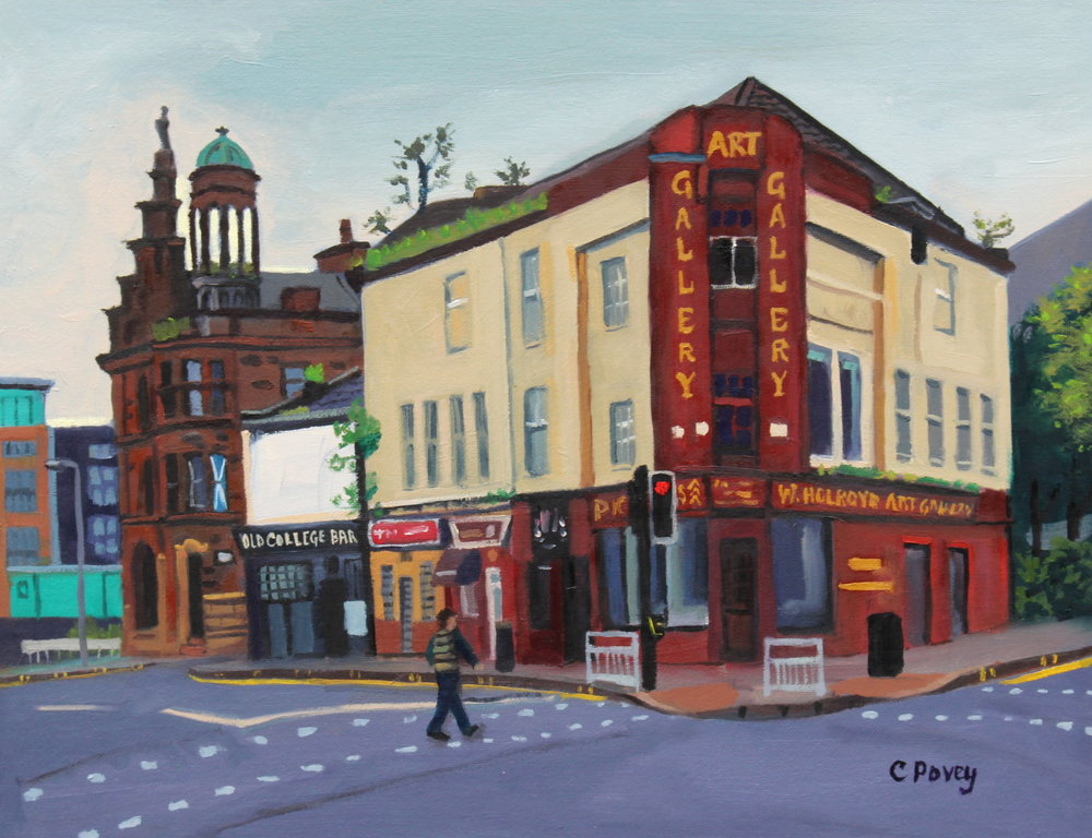 (5) Old College Bar, Oil on canvas-board, 45 x 35cm - THE LOCALE MEMBERS SHOW, McCune Smith, Glasgow, August 2015.jpg